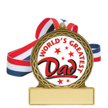 World's Greatest Dad Medal - Father's Day Medal