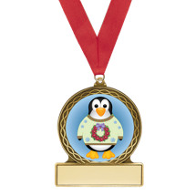 Penguin Medal with Red Ribbon