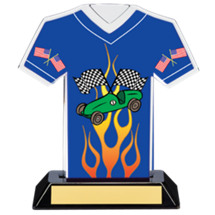 "7"" Pinewood Derby Jersey Trophy"