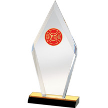 Modern Diamond Acrylic Fire Department Award