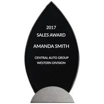 """Modern Glass Stand-Up Award - 4 1/2 x 9 5/8"""""""
