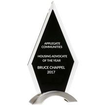 "Glass Arrowhead Stand-Up Award - 5 5/8 x 9 5/8"""
