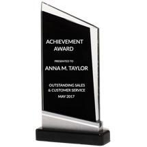 "Glass Angled Stand-Up Award - 4 3/4 x 8 7/8"""