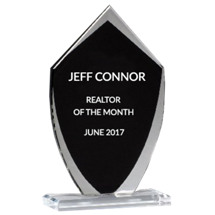 Glass Shield Stand-Up Award - 5 x 8 1/4""