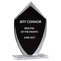 "Glass Shield Stand-Up Award - 5 x 8 1/4"""