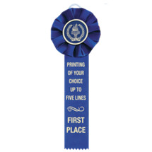 "4 x 12"" Custom Printed 1 Streamer Rosette Ribbon"