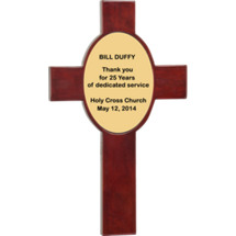 "8 x 13 5/8"" Rosewood Cross Plaque"