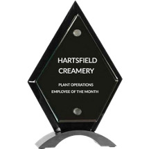 Black Arrowhead Stand-Up Award - 5 1/2 x 8 1/2""