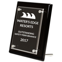 Black Rectangular Stand Up Award
