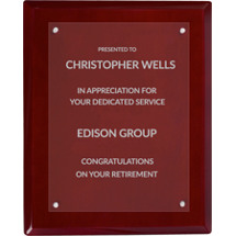 Sparkle Rosewood  Presentation Plaque