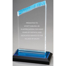 Wave Blue Reflection Acrylic Award