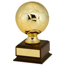 "Soccer Trophy - 7 3/4"" Gold Finish Mini Soccer Ball Trophy"