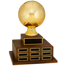 Soccer Trophy - Official Size Soccer Ball Perpetual Award