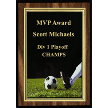 Soccer Plaque - Soccer Plaque with Soccer Ball Image