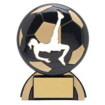"Soccer Trophies - 4 1/2"" Female Soccer Shadow Resin Award"