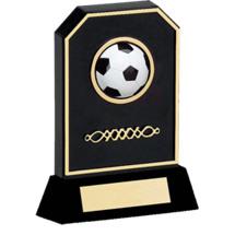 Soccer Trophy - Black Acrylic 3-D Soccer Trophy