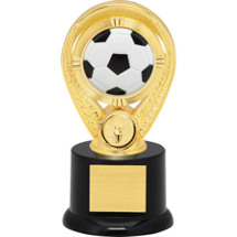 "Soccer Trophy - 5"" Colorful Soccer Riser Trophy"