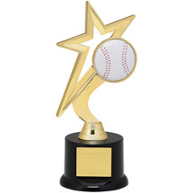 Baseball Trophy - Gold Star with Black Acrylic Base
