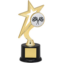 "Racing Trophy - 9"" Gold Star with Black Acrylic Base"
