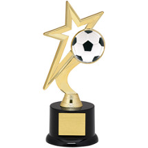 Soccer Trophy - Gold Star with Black Acrylic Base