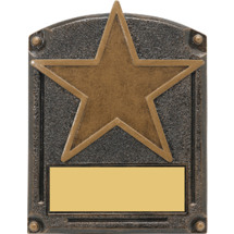 "Star Trophy - 5 x 6 1/2"" 3D Shadow Award"