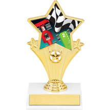 Pinewood Derby Super Star Trophy - 7""