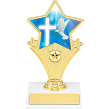 Religion Super Star Trophy - 7""