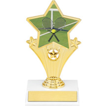 Tennis Resin Super Star Trophy - 7""