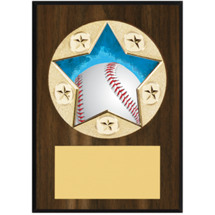 Baseball Plaque - Star Emblem Plaque