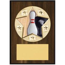 "Bowling Plaque - 5 x 7"" Star Emblem Plaque"