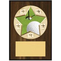 "Golf Plaque - 5 x 7"" Star Emblem Plaque"