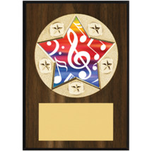 "Music Plaque - 5 x 7"" Star Emblem Plaque"