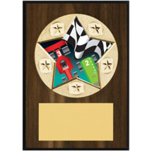 "Pinewood Derby Plaque - 5 x 7"" Star Emblem Plaque"