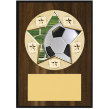 "Soccer Plaque - 5 x 7"" Star Emblem Plaque"
