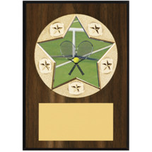 "Tennis Plaque - 5 x 7"" Star Emblem Plaque"