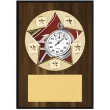 "Track Plaque - 5 x 7"" Star Emblem Plaque"