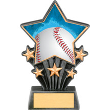 Baseball Resin Super Star Trophy - 6 1/2""