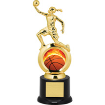 Basketball Trophy - Female Player with Black Acrylic Base