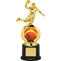 Basketball Trophy - Male Player with Black Acrylic Base