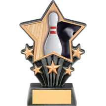 Bowling Resin super Star Trophy - 6 1/2""