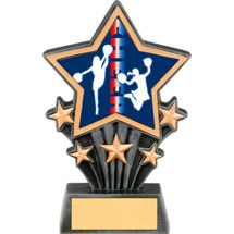 Cheer Resin Super Star Trophy - 6 1/2""
