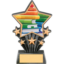 Education Resin Super Star Trophy - 6 1/2""