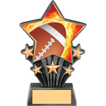 Football Resin Super Star Trophy - 6 1/2""