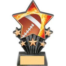 "Football Resin Super Star Trophy - 6 1/2"""