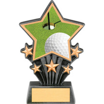 Golf Resin Super Star Trophy - 6 1/2""