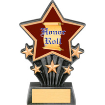 Honor Roll Resin Super Star Trophy - 6 1/2""