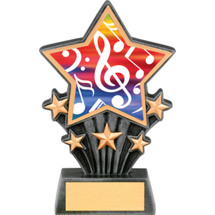 Music Resin Super Star Trophy - 6 1/2""