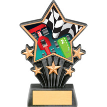 Pinewood Derby Resin Super Star Trophy - 6 1/2""