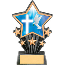 Religion Resin Super Star Trophy - 6 1/2""