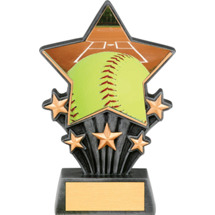Softball Resin Super Star Trophy - 6 1/2""